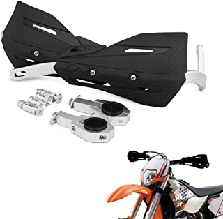22mm and 28mm Aluminum Motocross Hand Guards with Universal Mounting Kits For Honda Yamaha Kawasaki Suzuki KTM Dirt Bike Motorcycle MX Supermoto Racing ATV Quad KAYO (Black)