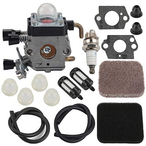 Butom FS85 FS80 Carburetor for Stihl FS75 FS80R FS85 FS85R FS85T FS85RX String Trimmer Weedeater C1Q-S97 Carb w/Fuel Repower Kit Air Filter
