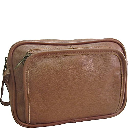 Amerileather Leather Travel Toiletry Bag
