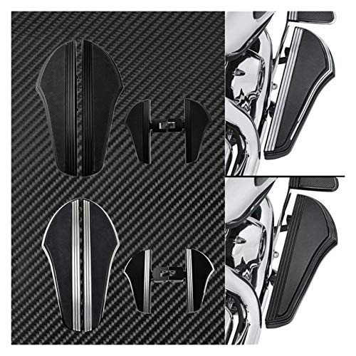 Reposapiés Motocicleta para Indian 2014-2019 Motocicleta Rider Driver Floorboard Frontal Footpass Footpegs Footpegs Footboards Pedal Set Negro/Chrome (Color : Chrome Floorboard)