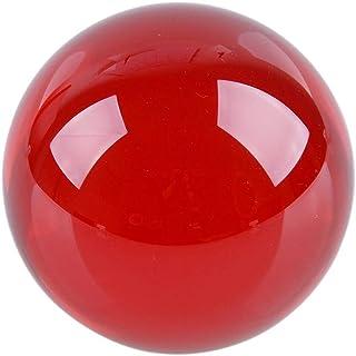 クリスタル クリア ボール 水晶球 水晶玉 多色透明 クリスタルボール レンズボール 装飾品 (レッド, 30mm)