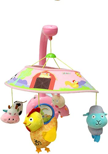 Dearmy 0-36 Monate Baby S ling Krippe Handy Halter Arm Kinderwagen Spielzeug Musikbox Rassel Weiß Plüsch Ausgestopft Tier Beschwichtigen Frühe Bildung Entwicklungsf g Spielzeug Geschenk (Rosa)