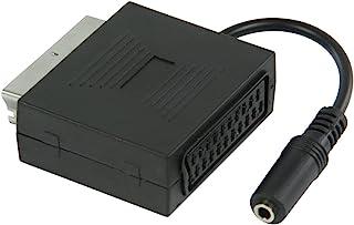 comprar comparacion Valueline VLVP31930B02 – Adaptador SCART macho a SCART hembra con salida de audio para auriculares estéreo de 3,5 mm hembr...