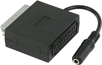Valueline VLVP31930B02 Adattatore, Audio-Stereo SCART Maschio - Jack Stereo Femmina da 3.5 mm da 0.20 m, Nero