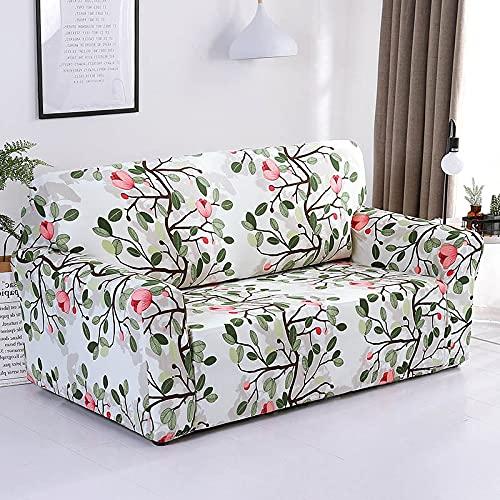 WXQY Funda elástica para sofá, Funda para sofá de Sala de Estar, Funda para sillón de Esquina en Forma de L, Funda para sofá elástica Completa A16 de 4 plazas