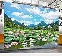 mzznz 3D壁紙壁画カスタム写真家の装飾リビングルーム寝室風景蓮自然風景風景壁画