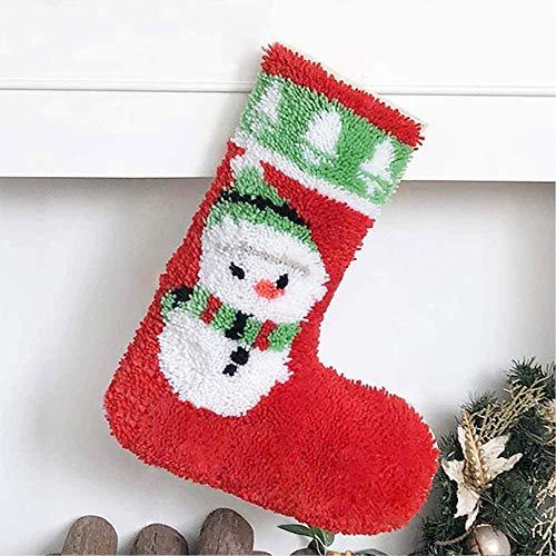 Kit de Gancho de pestillo Calcetines de Navidad Haciendo artesanías Bricolaje Cruzado Crochet Crochet Costura artesanías para niños y Adultos, B, 50 * 42 cm / 19.7 * 16.5 Pulgadas