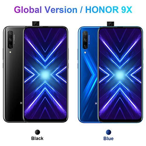 Honor 9X Smartphone, Teléfono 4GB RAM + 128GB ROM, 6,59' Pantalla Completa, 48M AI cámara de visión Trasera, 16MP cámara Selfie emergente, Cuerpo de Cristal Mágico 3D (Azul)