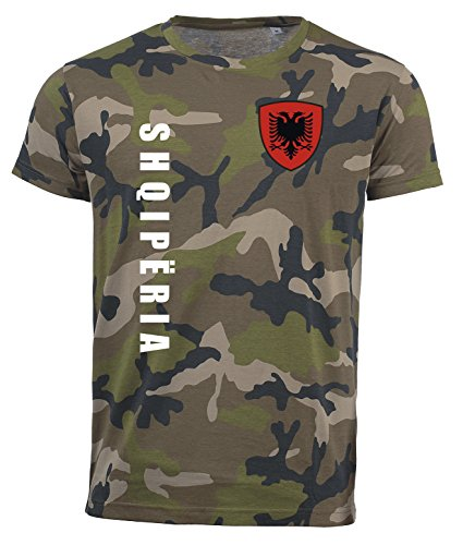 aprom Albanien T-Shirt Camouflage Trikot Look Army Sp/A (M)