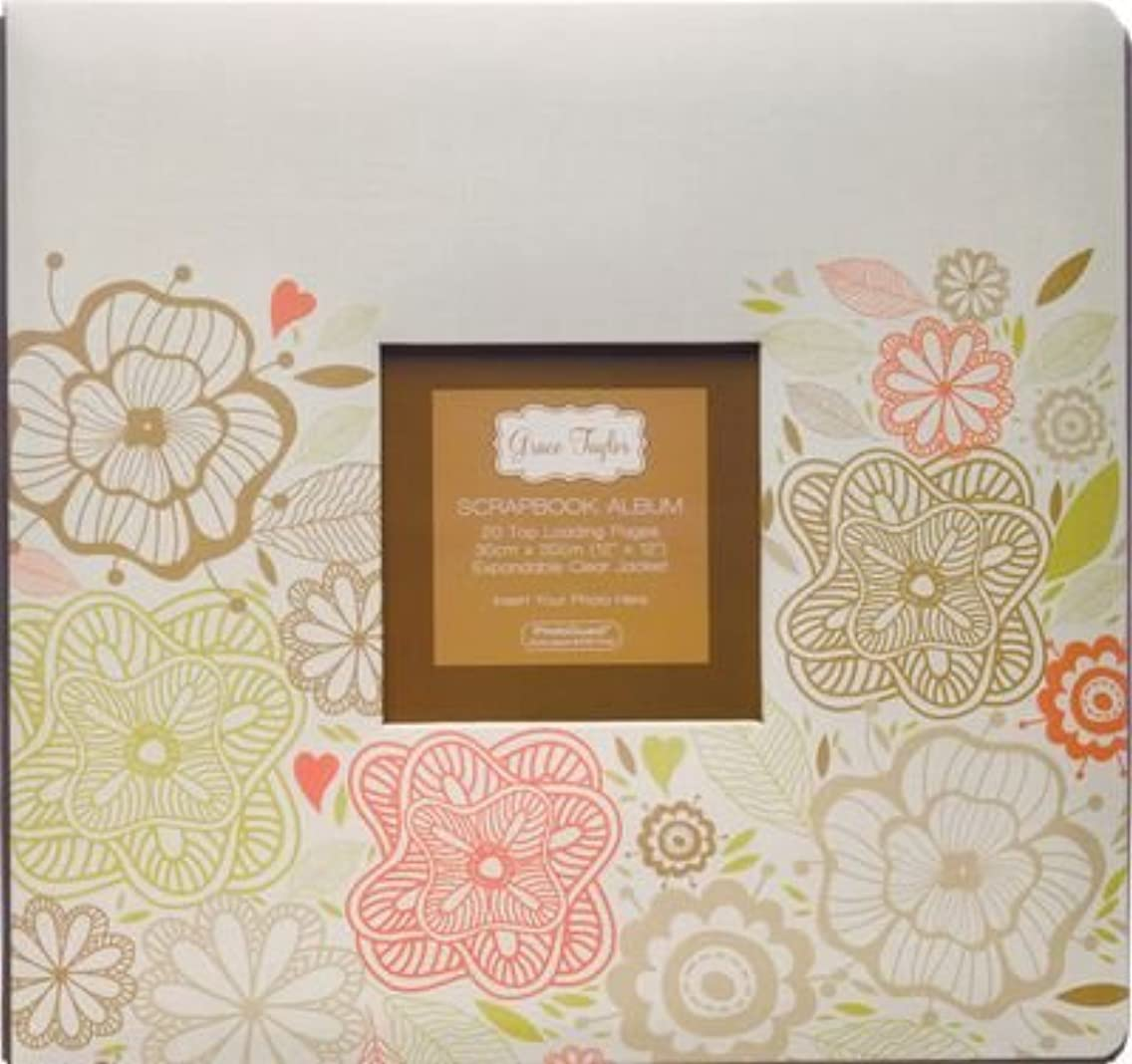 Grant Studios 12-Inch by 12-Inch Printed Postbound Album, Eco Floral