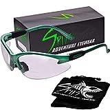 Cougar Magnifying Bifocal Safety Glasses (Frame: SEAFOAM Green, Magnifier 1.75)