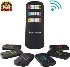 Key Finder Locator, Item Locator Wireless RF Item Tracker with 115 Feet Range Remote Control Transmitter & 6 Receivers - Upgrade Key Tracker, Pet Tracker, Wallet Tracker for Home, Garden & Yard