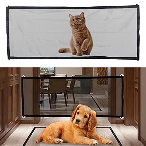Puerta mágica para perros, puerta de bebé, puerta de seguridad para mascotas, protector seguro para mascotas mantiene a los perros lejos de la cocina en el piso de arriba interior