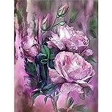 Diamond Painting 5D,Hermosas flores Cuadro Diamante DIY para...