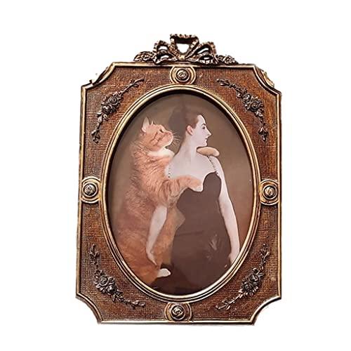balikha Marco de Fotos Antiguo, Marco de Fotos de Estilo Vintage para exhibición de Pared y Regalo de decoración de Dormitorio de Sala de Estar en casa