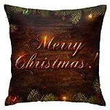 Kissenbezug Kissenhülle Kissenbezüge Kopfkissenbezug Orange Gold Frohe Weihnachten mit Verstecktem...