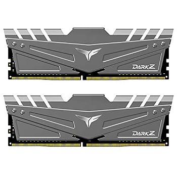 TEAMGROUP T-Force Dark Z 16GB Kit  2x8GB  DDR4 Dram 3200MHz  PC4-25600  CL16 288-Pin Desktop Memory Module Ram  Gray  - TDZGD416G3200HC16CDC01