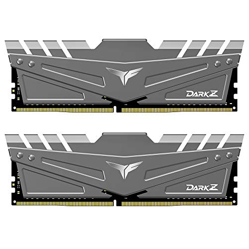 TEAMGROUP T-Force Dark Z 16GB Kit (2x8GB) DDR4 Dram 3200MHz (PC4-25600) CL16 288-Pin Desktop Memory Module Ram (Gray) - TDZGD416G3200HC16CDC01
