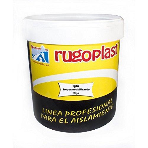 Pintura impermeabilizante economica ideal para eliminar las goteras de tu terraza, tejado, casa. Iglú Varios Colores (15L, Rojo) Envío GRATIS 24 h.