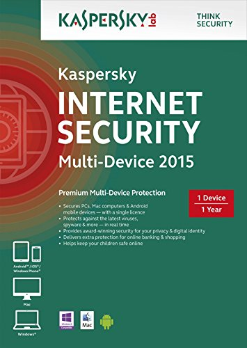 Kaspersky Internet Security 2015 Multi Device : 1 Device, 1 Year [Frustration-Free Packaging] (PC/Mac/Android) [import anglais]