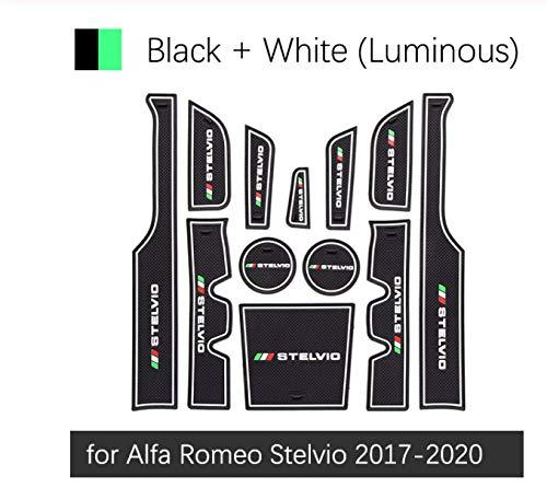 linfei Alfombrillas Antideslizantes De Goma con Ranura para Alfombrillas para Alfa Romeo...