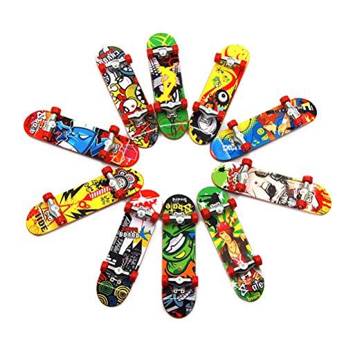 LIOOBO 3 unids Plástico Mini Patineta de Juguete Cubierta Camión Tablero de Dedos Skate Park Boy Niños Niños Regalo Color Aleatoriamente