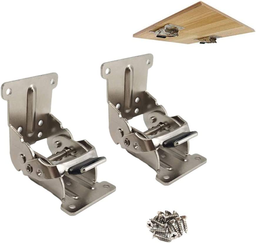 Folding Brackets 2 Pcs Lock Fees free Extension Table Bed Leg Support Sale Special Price for