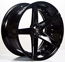 Marquee MQ 3226 – 20 Inch Staggered Rims – Set of 4 Black Wheels – Made for Sports Racing Cars – Fits Challenger, Charger, Mustang, Camaro, Cadillac and More (20x9 / 20x10.5) – Rines Para Carros