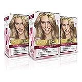 L´ORÉAL PARIS Pack 3x Excellence Creme Tinte Permanente Triple Cuidado 100% Cobertura Canas Tono 8.1 Rubio Ceniza