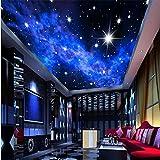 Photo Star Hotels Wall 3D Tv Paper Ceiling Dream Bedroom Techo Mural Bright Stars Wallpaper Papel tapiz 400X280Cm