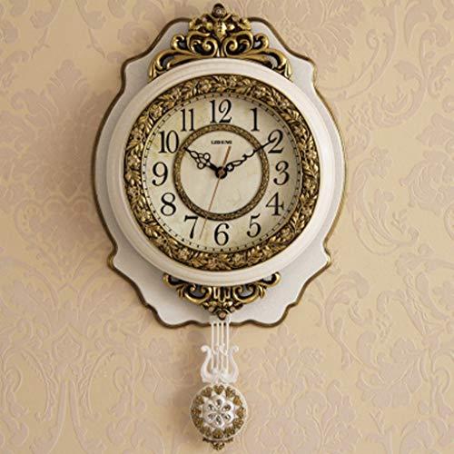 Le Nouveau Style Européen Horloge Murale Supe Ménage Chambre Horloge De Mode Créatif Pendule Horloge Salon Parure Horloge Horloge Muet Personnalité (Couleur : A)