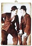 KUSTOM ART Bild im Vintage-Stil von Laurel & Hardy (Stan