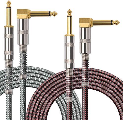 Cable Guitarra Eléctrica 3 Metro, OTraki 2 Pack...