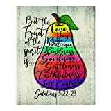 'But the Fruit of the Spirit Is Love-Joy-Peace'-Bible Verse Wall Art -11 x 14' Scripture Wall Print-Ready to Frame. Inspirational Home-Office-Church Decor. Perfect Religious Gift! Galatians 5:22-23.