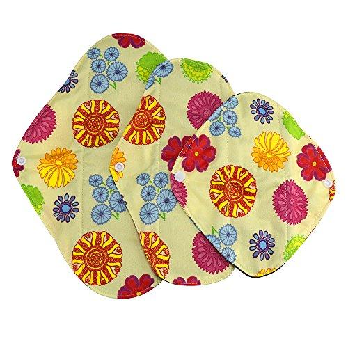 Amlaiworld Serviettes Hygièniques Lavables Réutilisables Lingette Lavable Bambou Menstruel Serviette Hygiénique de Pad Couche Mama
