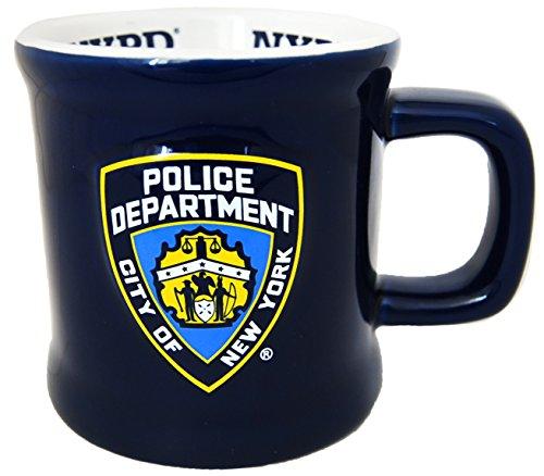 Große New York Cops–NYPD Navy Blau Kaffee Tasse offiziell lizenziert von New York Police department- hergestellt von citydreamshop. COM