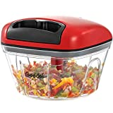 Pull Food Chopper, Manual Food Chopper Nut Chopper Easy to Clean, Mini Hand Vegetable Chopper for Garlic, Nut, Onion, Salad, etc
