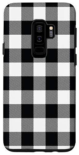 Galaxy S9+ Buffalo Black White Plaid Flannel Gingham Plaid Pattern Gift Case