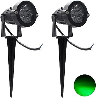 2 Packs, 5W LED Impermeable IP65, Luz de Paisaje al Aire Libre AC 85-265V Focos de exterior , de iluminación Para Calzada, Patio, Cesped, Pathway, Jardín (Verde)
