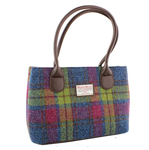 Glen Appin Harris Tweed Klassisch Handtasche - LB1003 - Cassley - Farbe 46 Multi, L