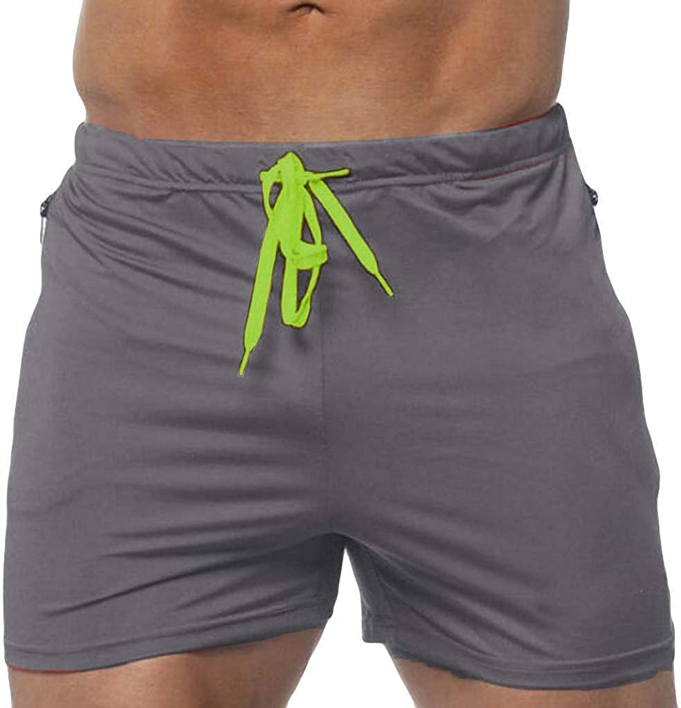 FONMA Men's Swimming Sport Beach Quick-Drying Solid Color Short Trouser Shorts Pants