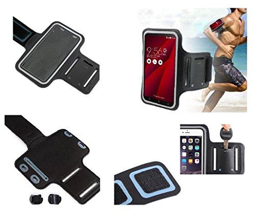 DFVmobile - Armbandtasche Sport Armband Berufsausrüstung Wasserabweisende aus Neopren Premium für Sony Xperia C6603 / Sony Xperia C6602 / Sony Xperia Z LTE/Sony Xperia Z HSPA+ - Schwarz