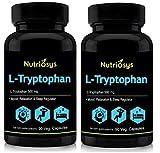 Nutriosys L-Tryptophan 500mg (90 Veg Capsules) Pack of - 2