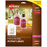 Avery Arched Labels with Sure Feed for Laser Printers, Water Resistant, 3
