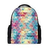 Mochila para portátil con diseño geométrico colorido