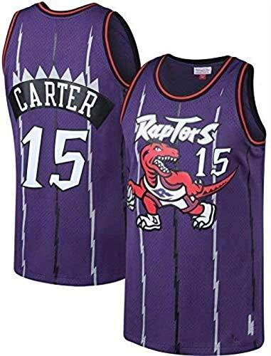 NBA maglia Raptors 15# basket jersey ricamato uniforme basket Edition Jersey, abbigliamento sportivo, unisex senza maniche, maglia, Viola, L