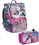 Schoolpack - Animali da SJ Girl - Zaino Sdoppiabile + Astuccio 3 Zip