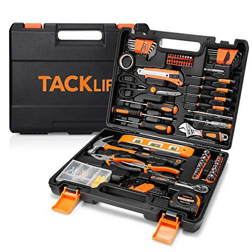 TACKLIFE 144 Home Repair Tool Set, General Household Too Kit with Sturdy Storage Case-HHK6A