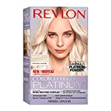 Revlon Color Effects Platinum Blonde, At-Home Hair Lightening Bleach Dye Kit Up to 7 Levels of Lift, with Anti-brass Violet Conditioner, Ammonia & Paraben Free, 60 Platinum, 1 count