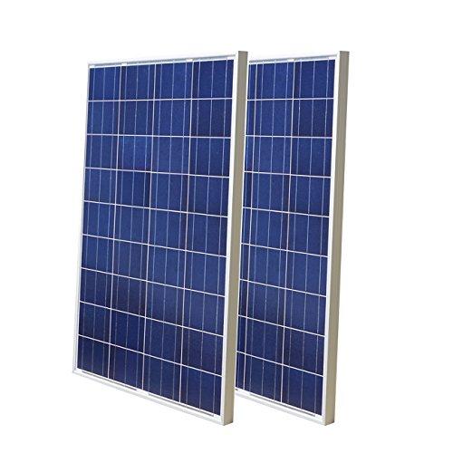 ECO-WORTHY - Paneles solares de poliéster de alta eficiencia (200 W, 2 unidades de 100 W)